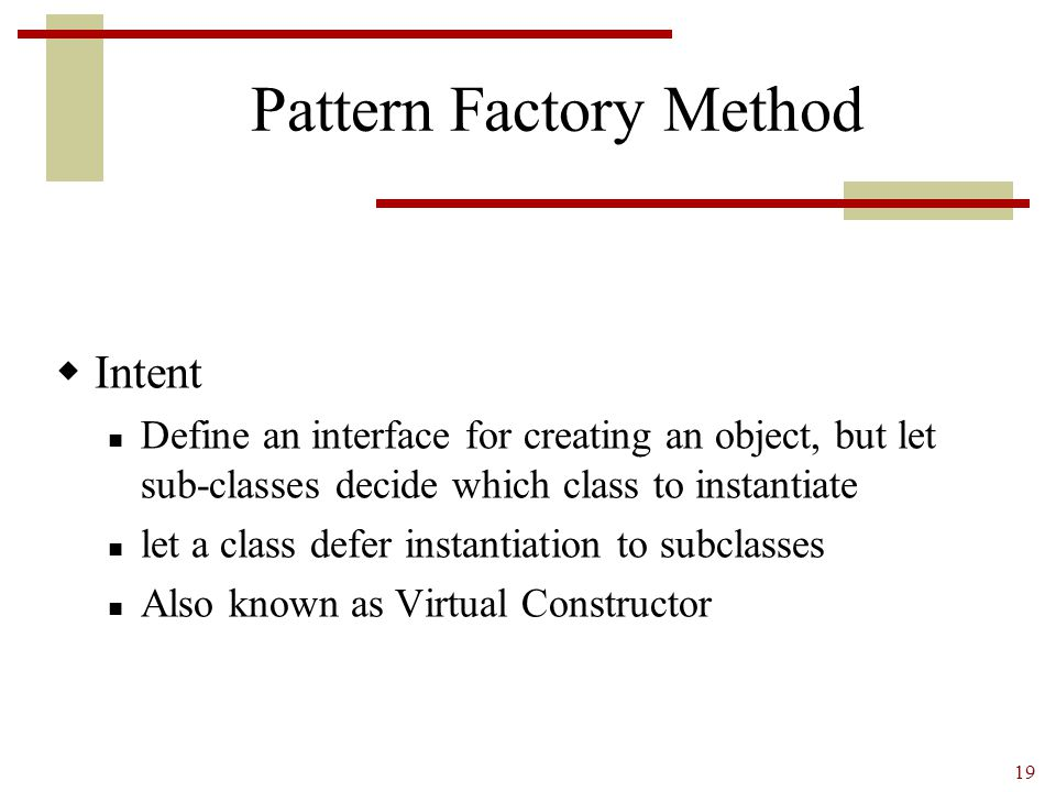 Pattern Factory Method