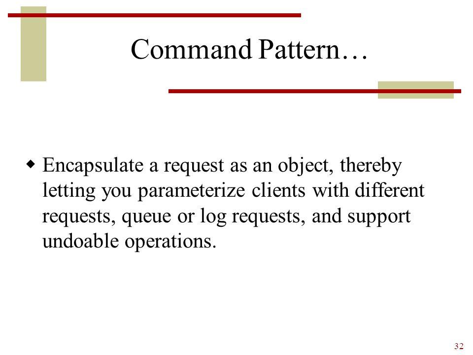 Command Pattern…