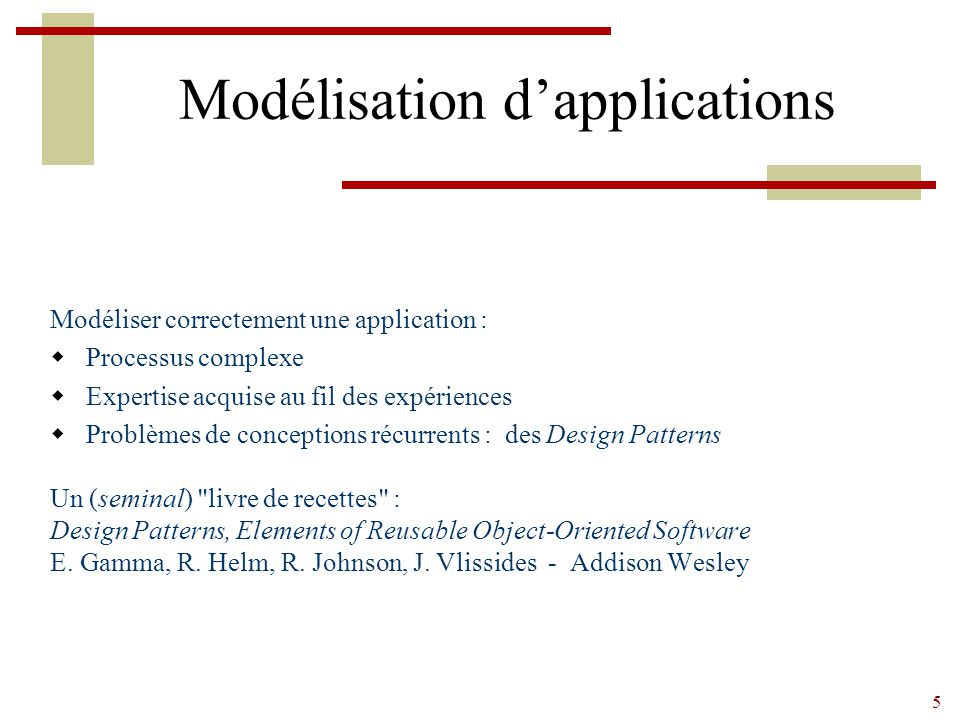 Modélisation d'applications