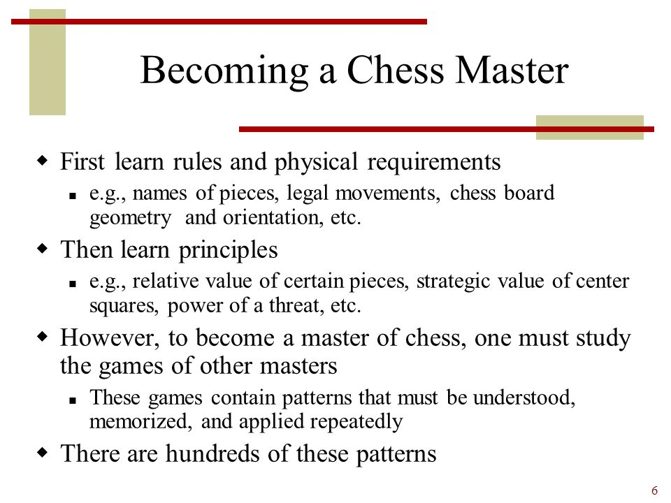 Becoming a Chess Master