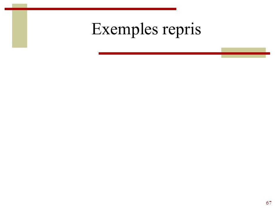 Exemples repris