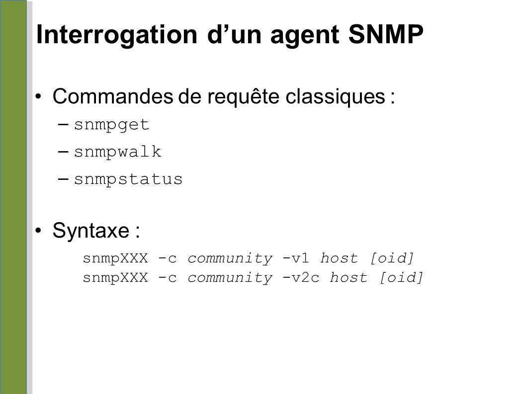 Interrogation d'un agent SNMP