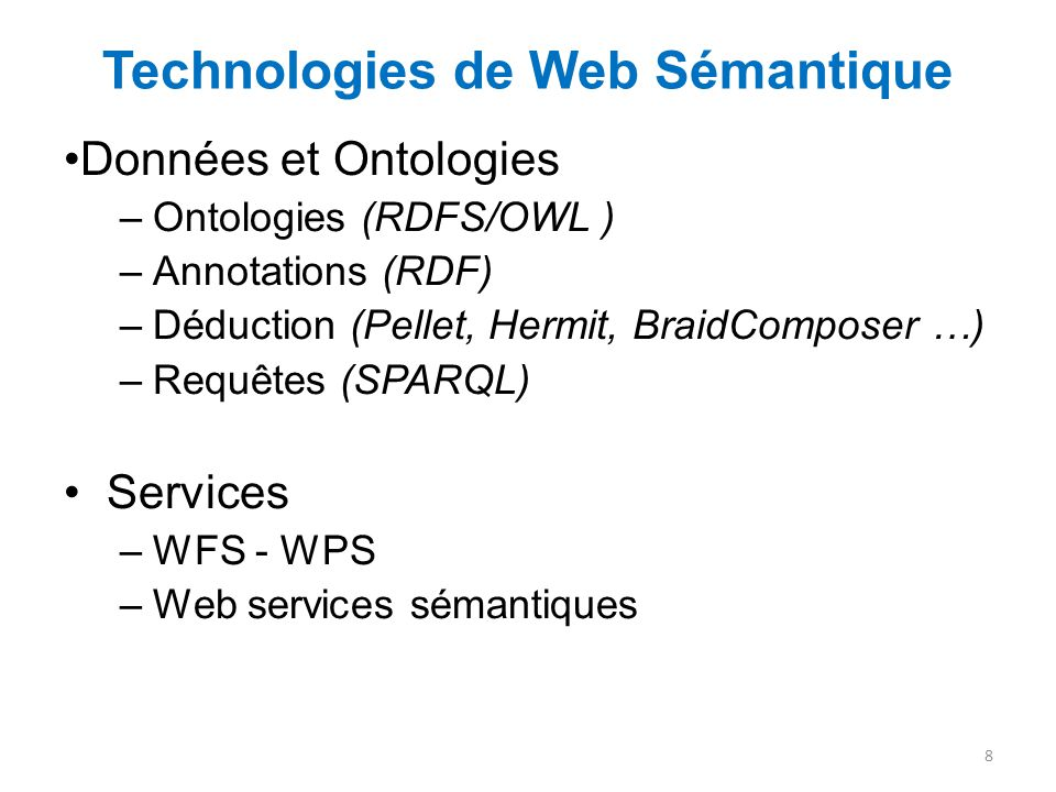 Technologies de Web Sémantique