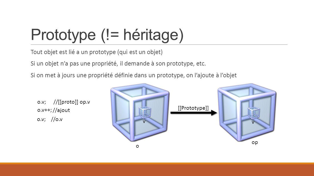 Prototype (!= héritage)