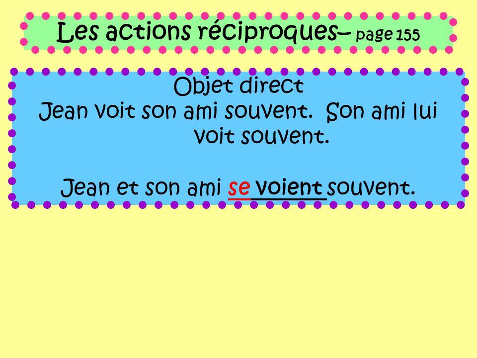 Les actions réciproques– page 155