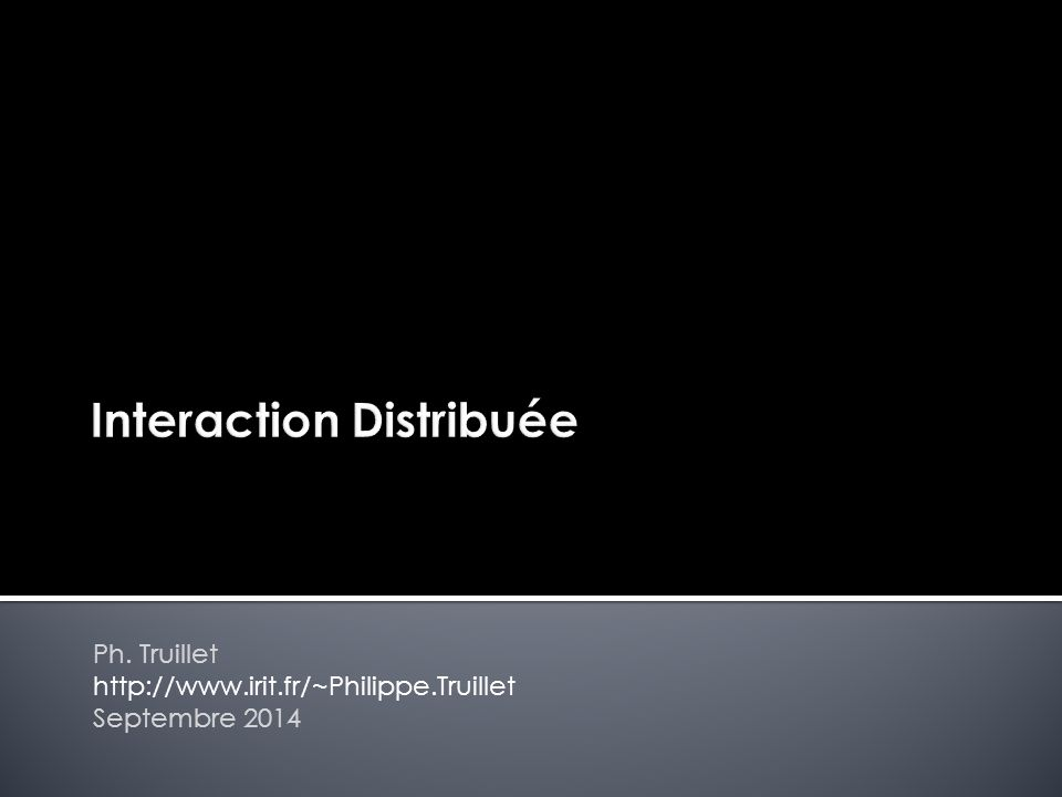 Interaction Distribuée