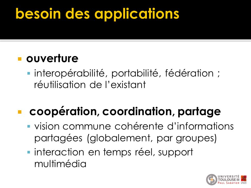 besoin des applications