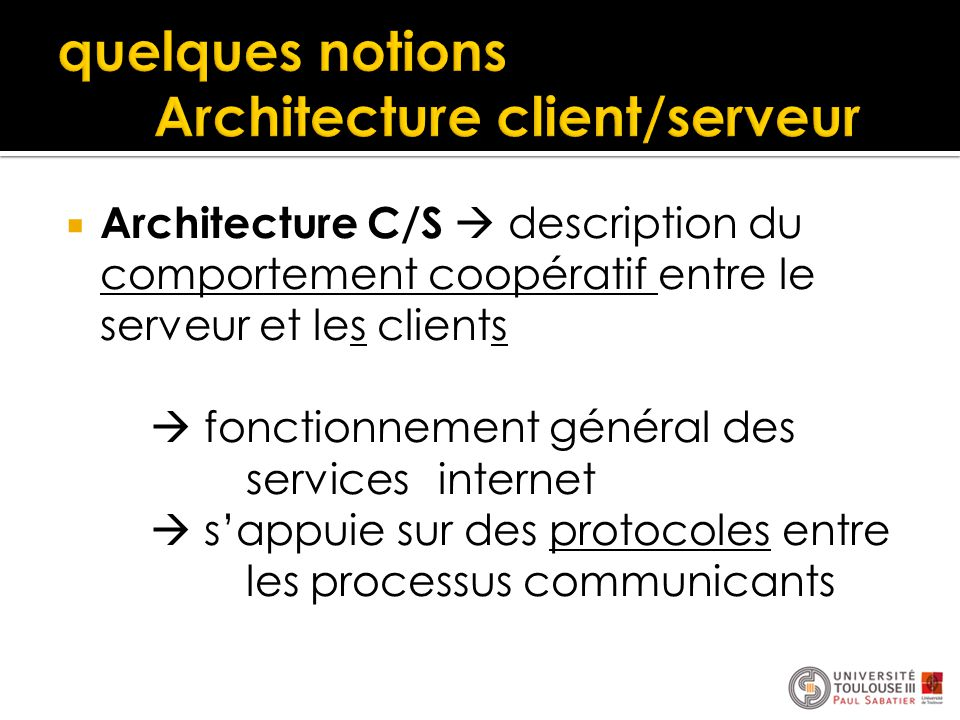 Interaction distribu e ppt t l charger for Architecture client serveur