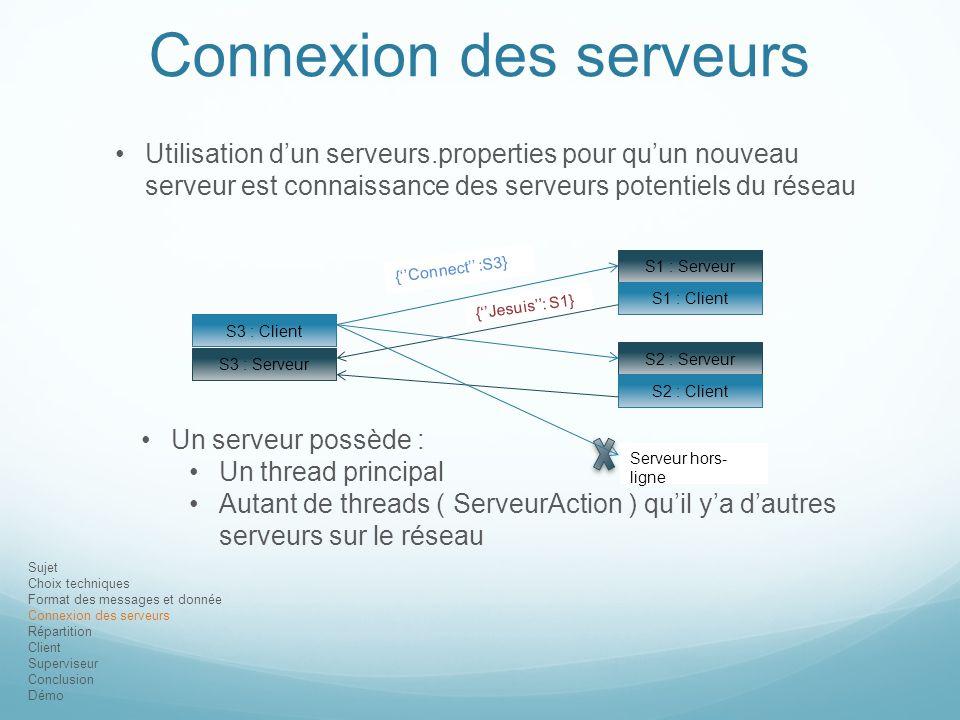 Connexion des serveurs