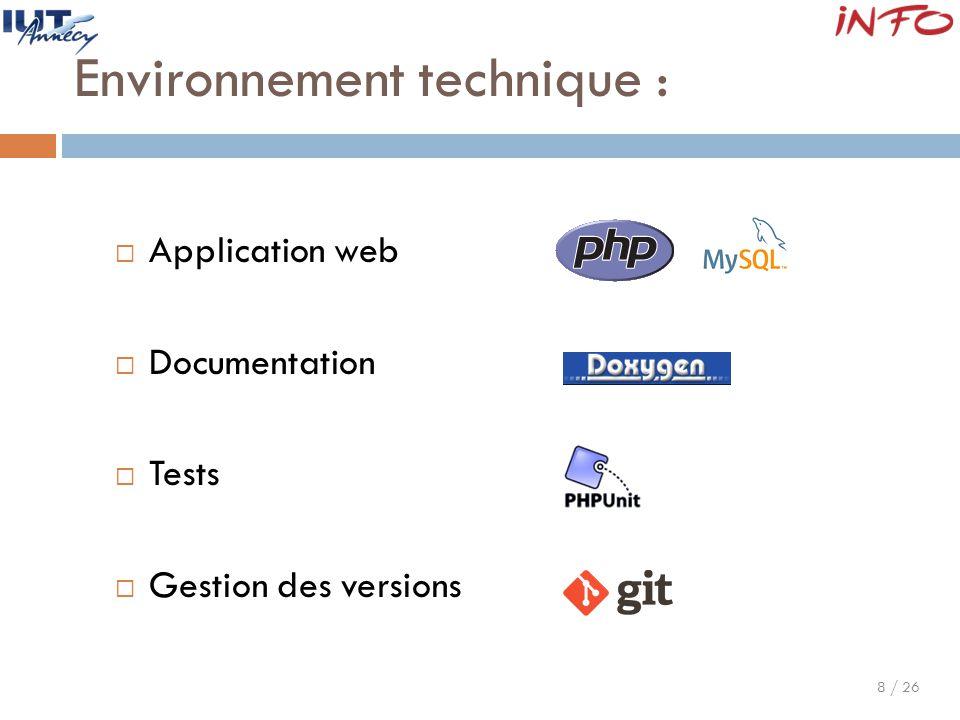 Environnement technique :