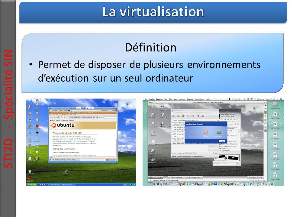 La virtualisation STI2D - Spécialité SIN Définition