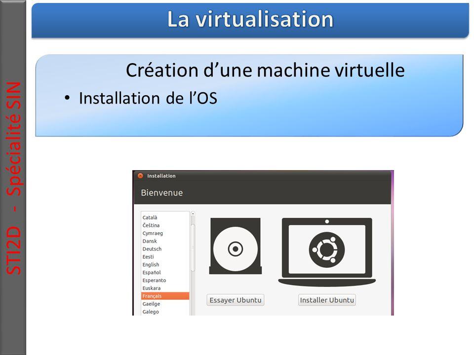 Création d'une machine virtuelle