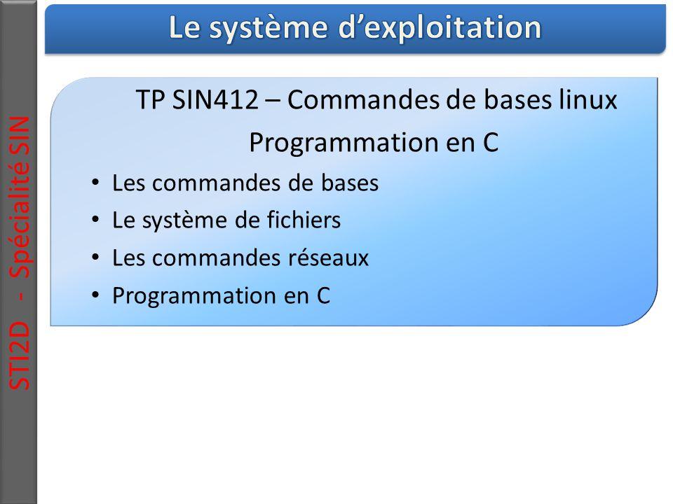 Le système d'exploitation