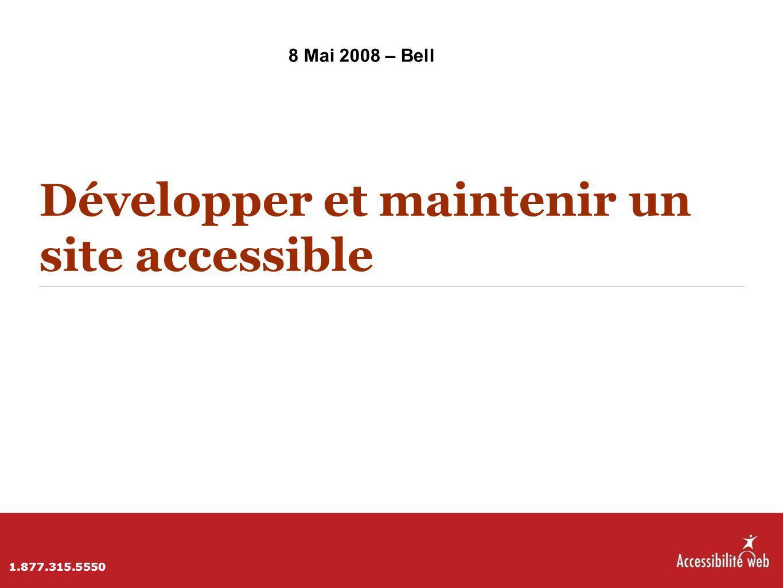 Développer et maintenir un site accessible