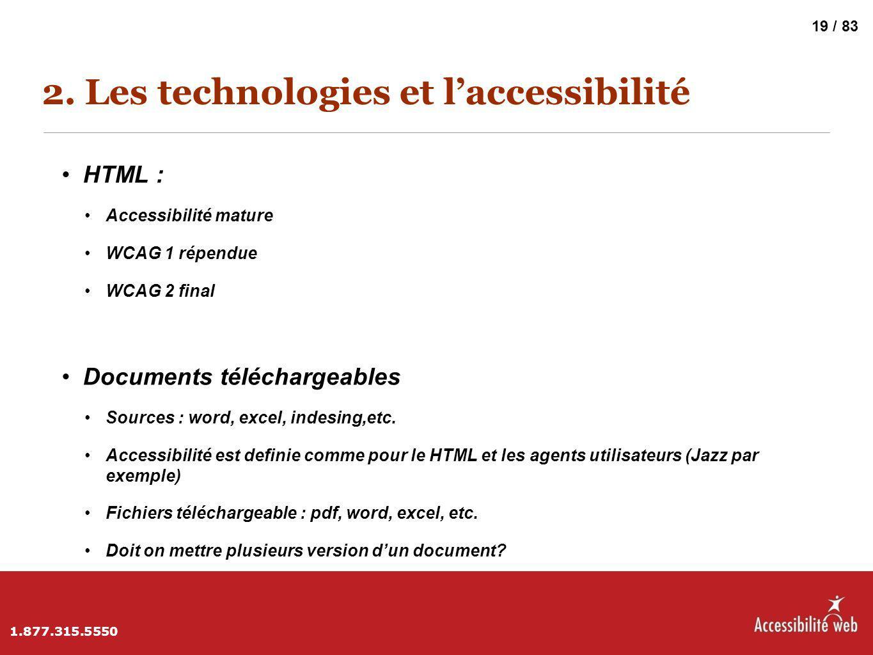 2. Les technologies et l'accessibilité