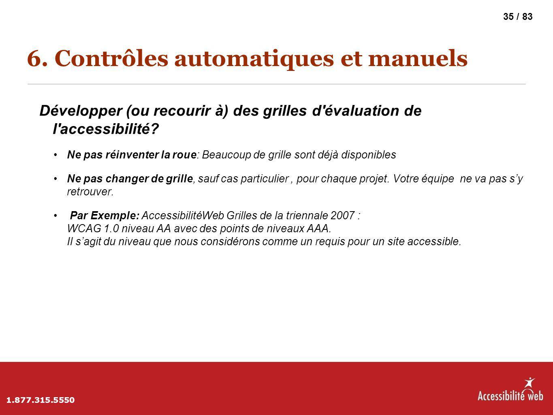 6. Contrôles automatiques et manuels