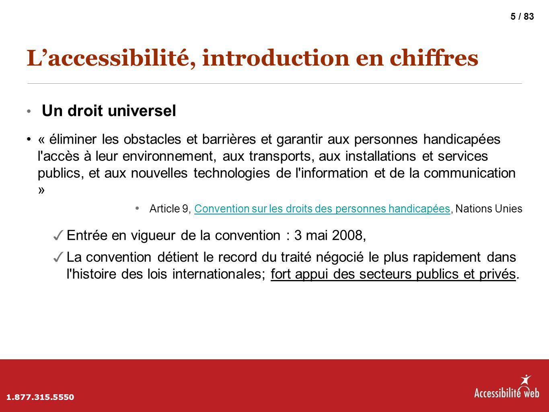L'accessibilité, introduction en chiffres
