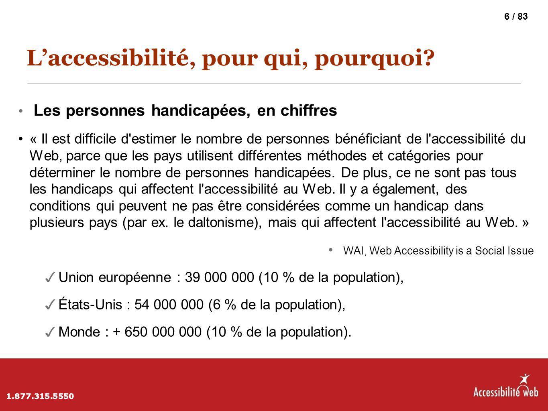 L'accessibilité, pour qui, pourquoi