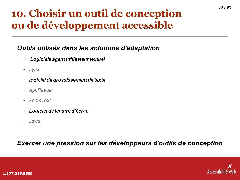 10. Choisir un outil de conception ou de développement accessible