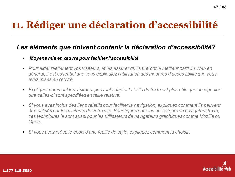 11. Rédiger une déclaration d'accessibilité