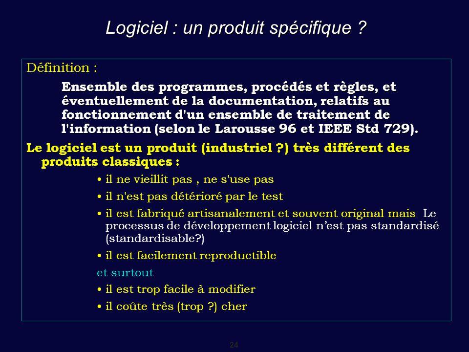 Logiciel : un produit spécifique