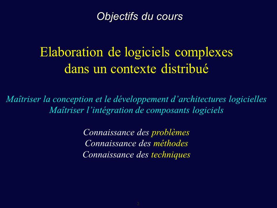 Elaboration de logiciels complexes dans un contexte distribué