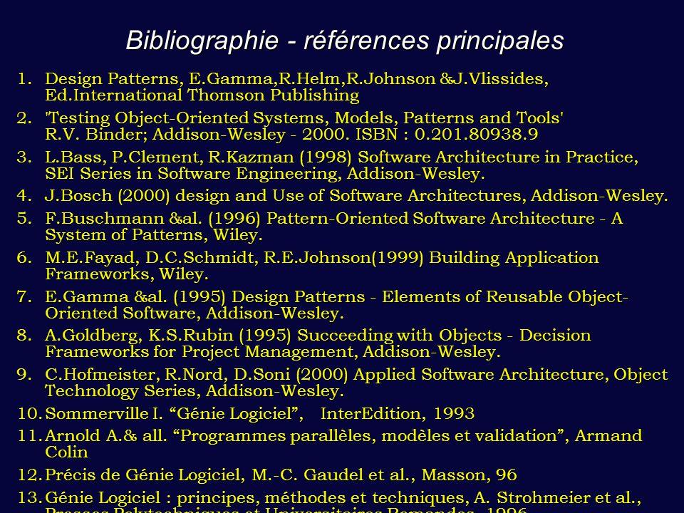 Bibliographie - références principales
