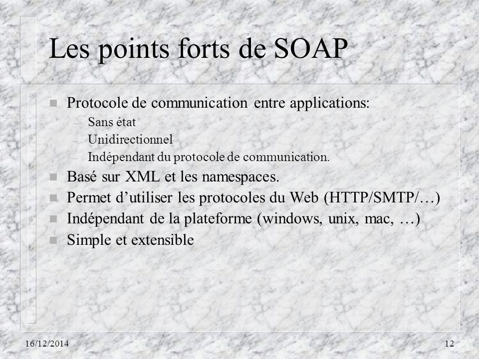 Les points forts de SOAP