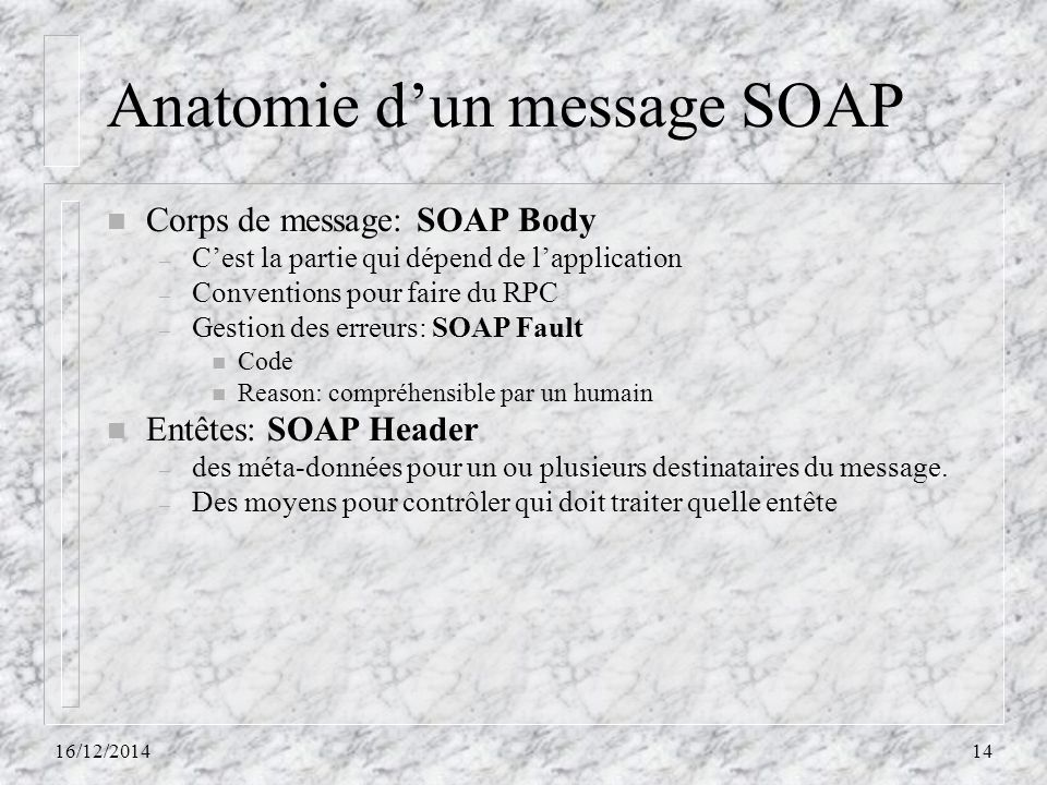 Anatomie d'un message SOAP