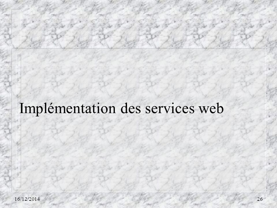 Implémentation des services web