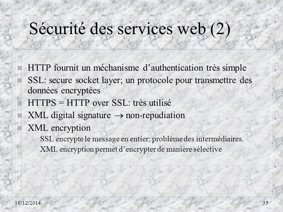 Sécurité des services web (2)