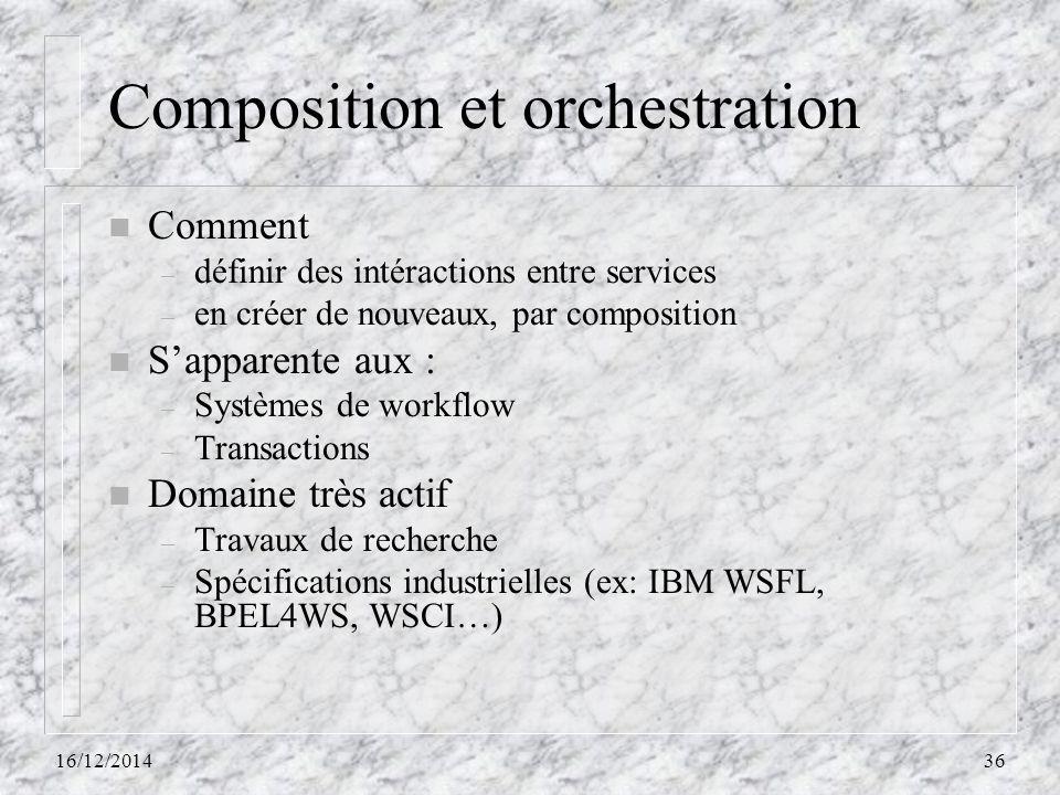 Composition et orchestration