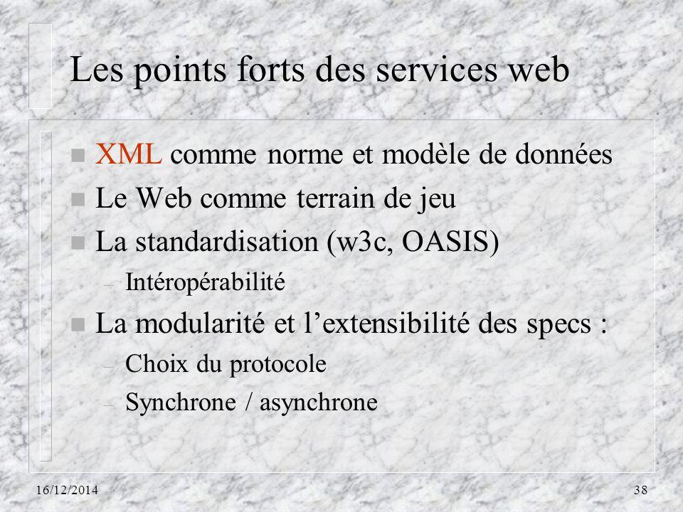 Les points forts des services web