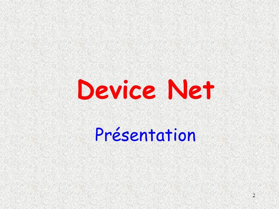 Device Net Présentation