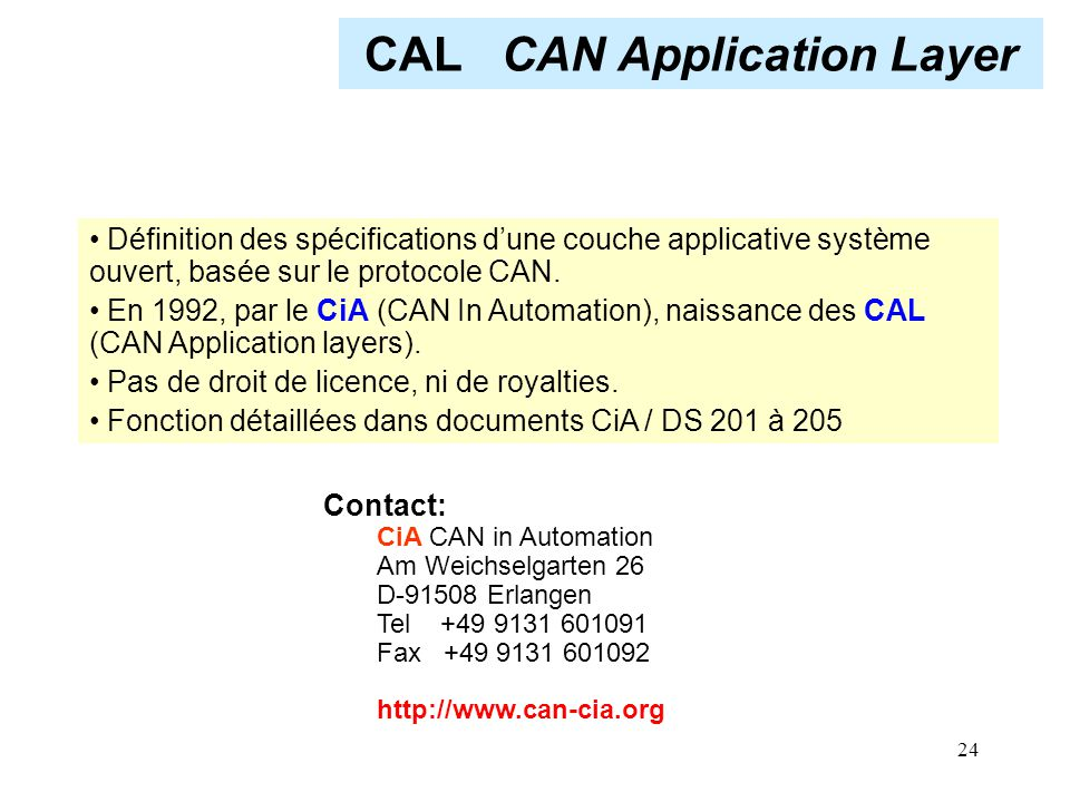 CAL CAN Application Layer