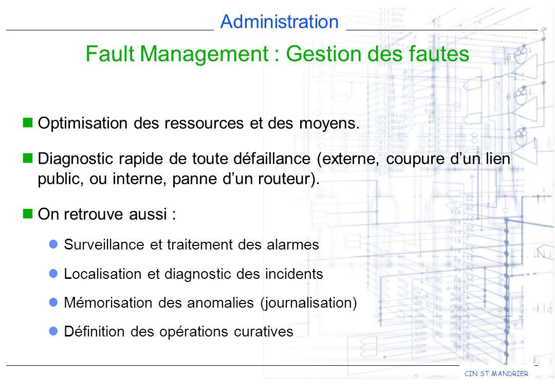 Fault Management : Gestion des fautes