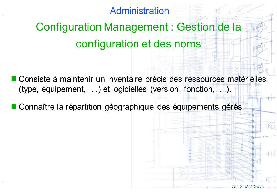 Configuration Management : Gestion de la configuration et des noms