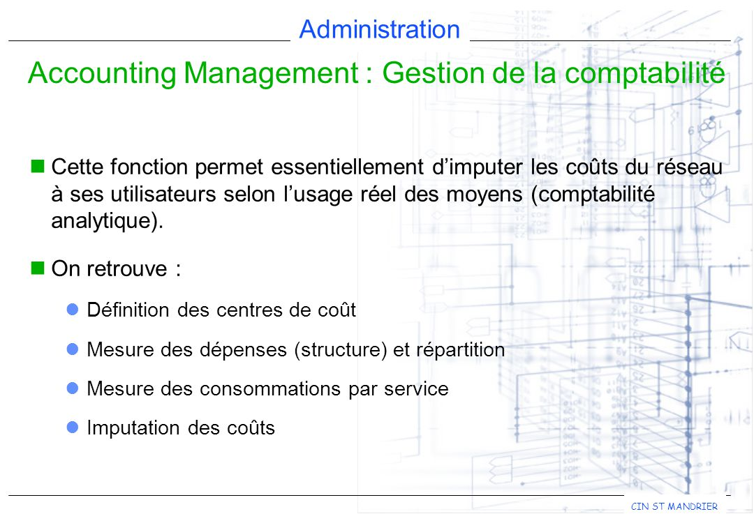 Accounting Management : Gestion de la comptabilité