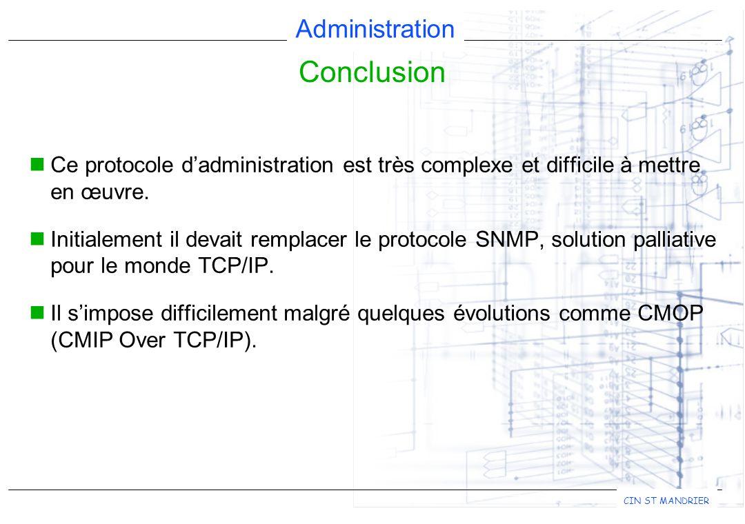 Conclusion Ce protocole d'administration est très complexe et difficile à mettre en œuvre.