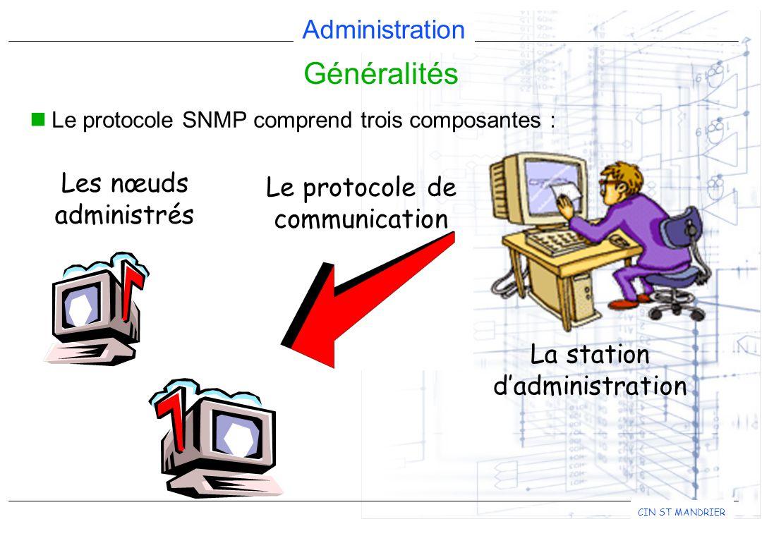 Généralités Les nœuds Le protocole de administrés communication