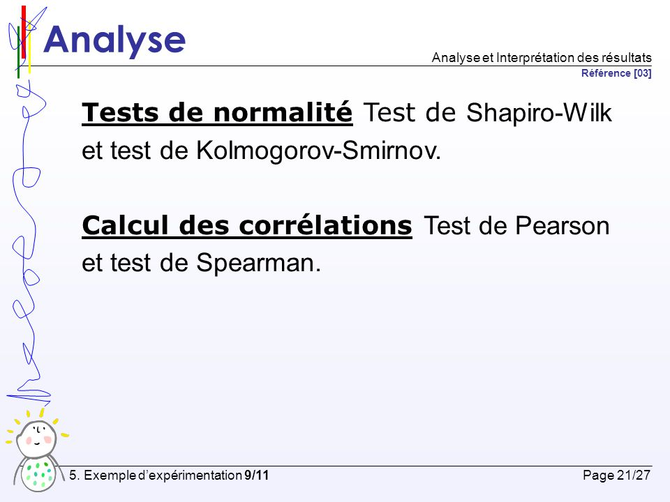 Analyse Tests de normalité Test de Shapiro-Wilk