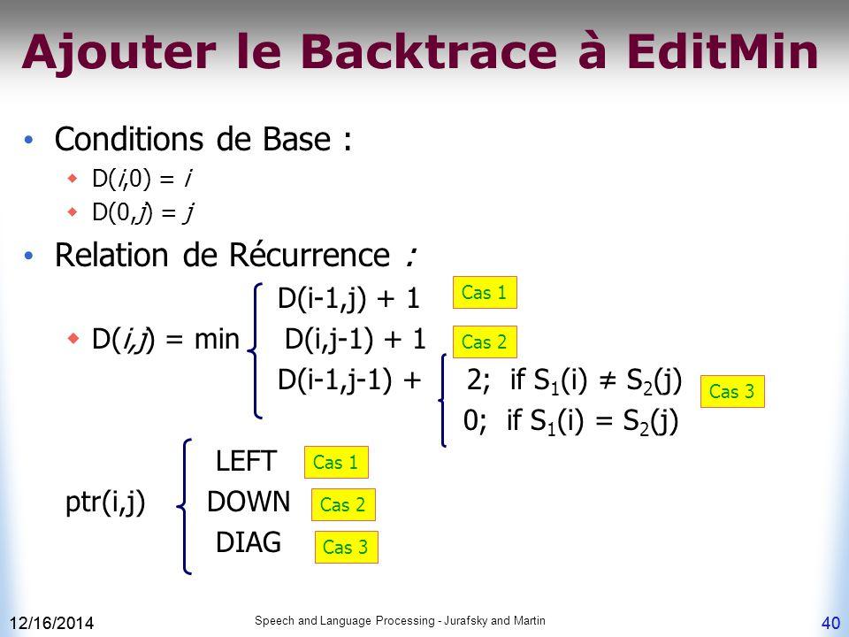Ajouter le Backtrace à EditMin