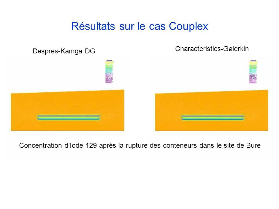 Résultats sur le cas Couplex