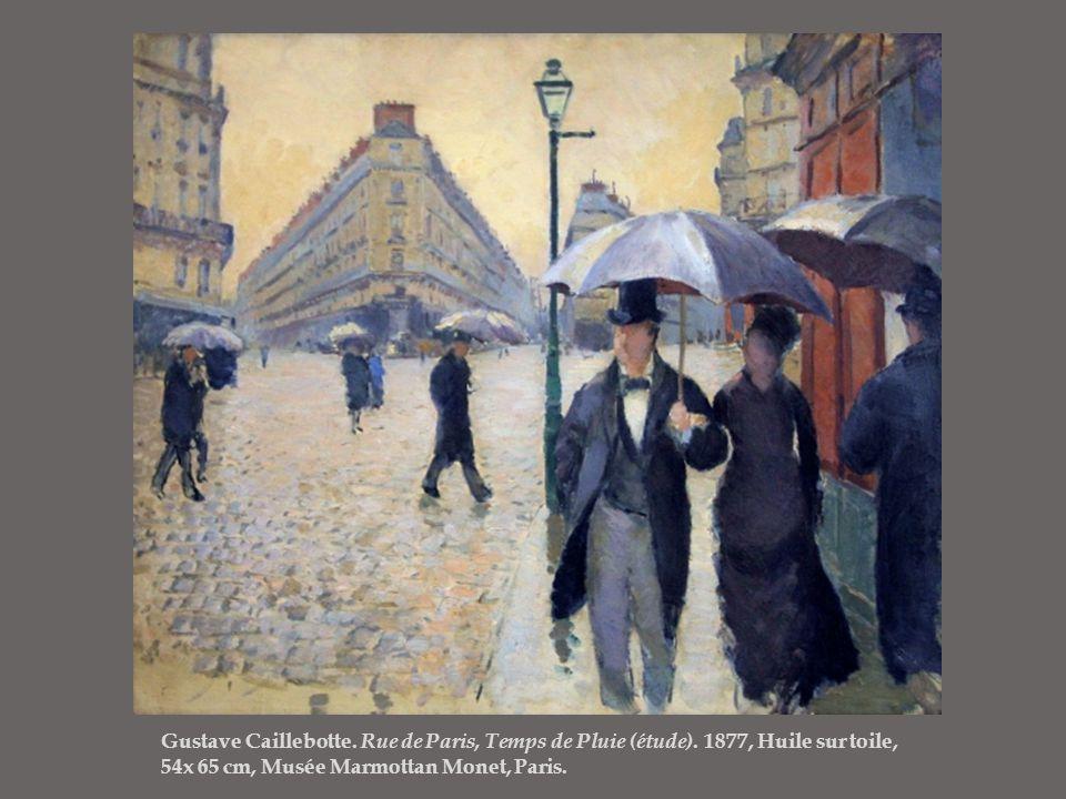 Gustave Caillebotte. Rue de Paris, Temps de Pluie (étude)