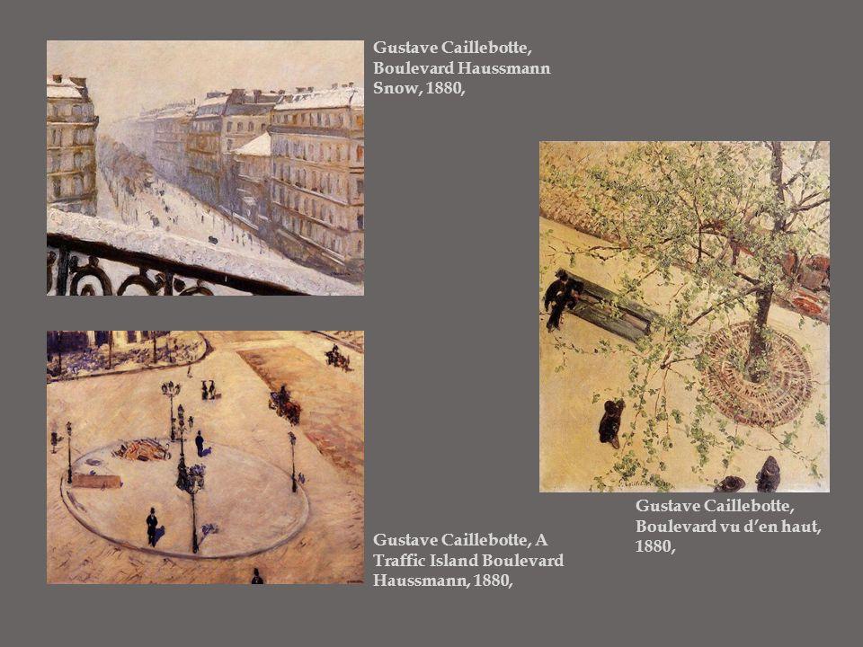 Gustave Caillebotte, Boulevard Haussmann Snow, 1880,