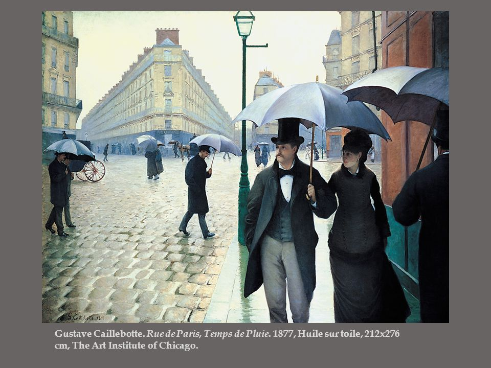 Gustave Caillebotte. Rue de Paris, Temps de Pluie