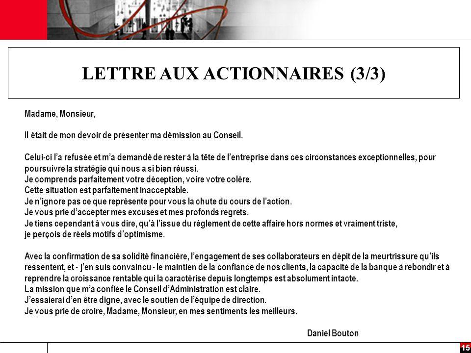 LETTRE AUX ACTIONNAIRES (3/3)