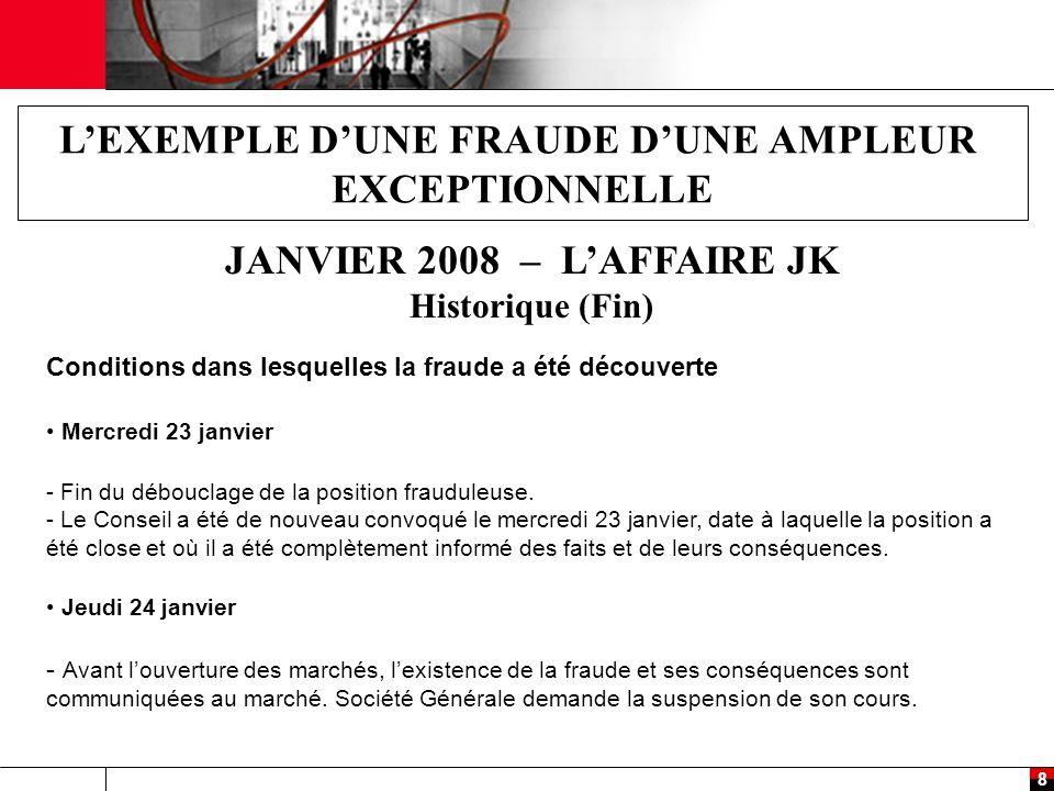L'EXEMPLE D'UNE FRAUDE D'UNE AMPLEUR