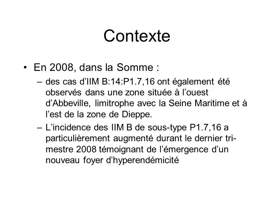 Contexte En 2008, dans la Somme :