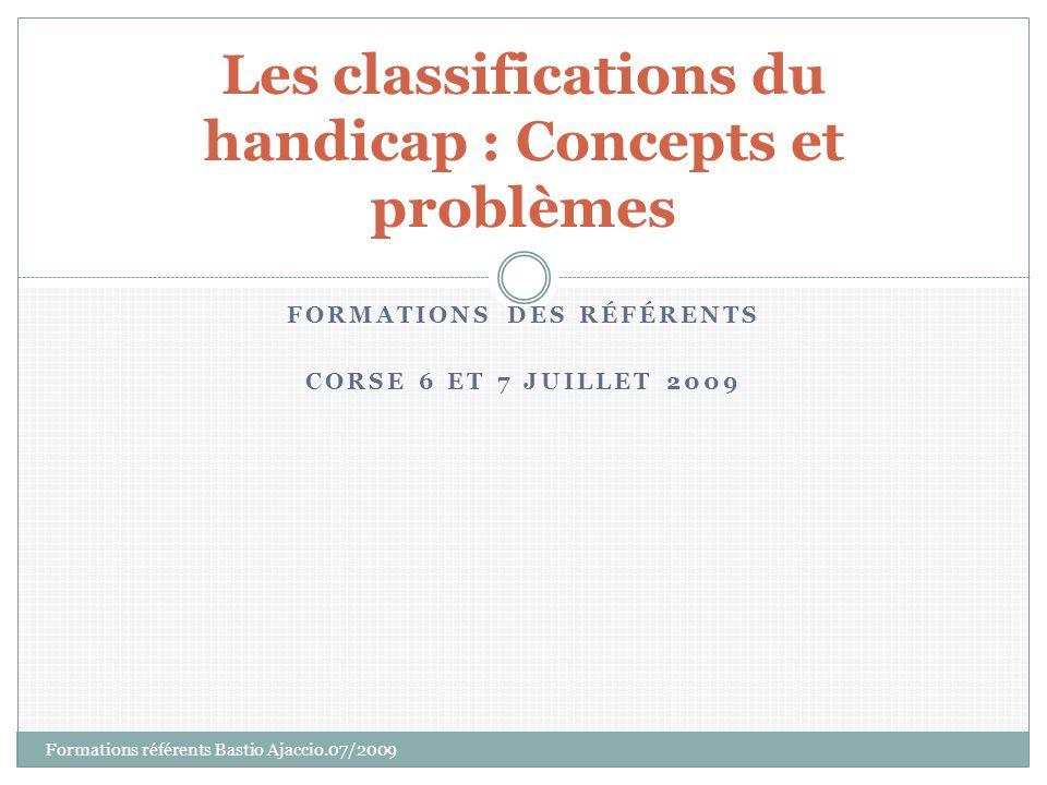 Les classifications du handicap : Concepts et problèmes